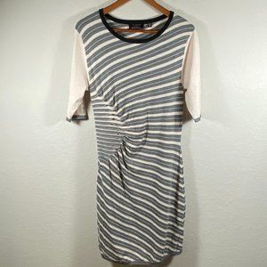 Ted Baker Striped Fitted Sweater Dress